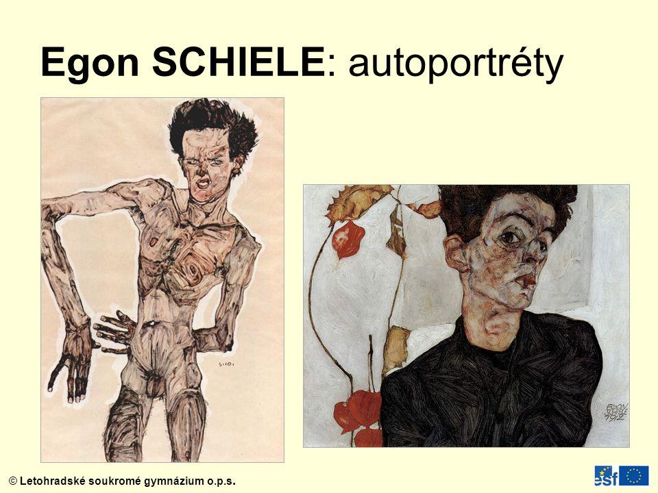 Egon SCHIELE: autoportréty