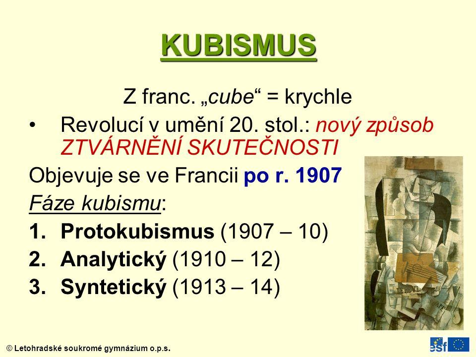 """Z franc. """"cube = krychle"""