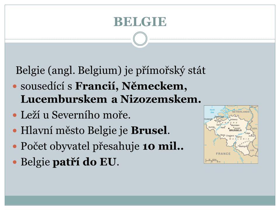 BELGIE Belgie (angl. Belgium) je přímořský stát