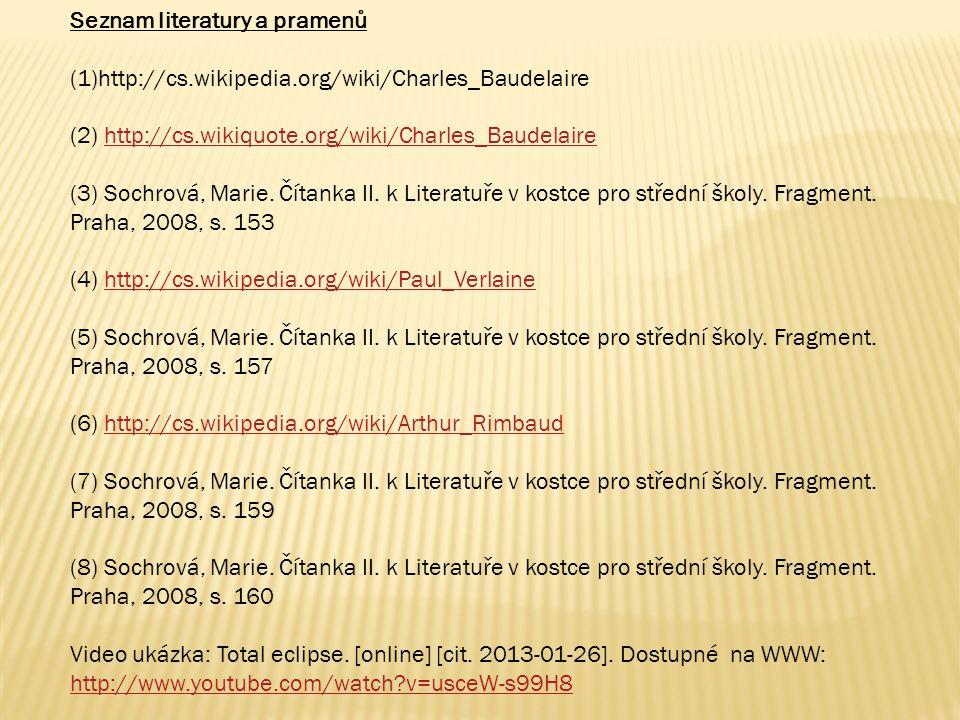 Seznam literatury a pramenů