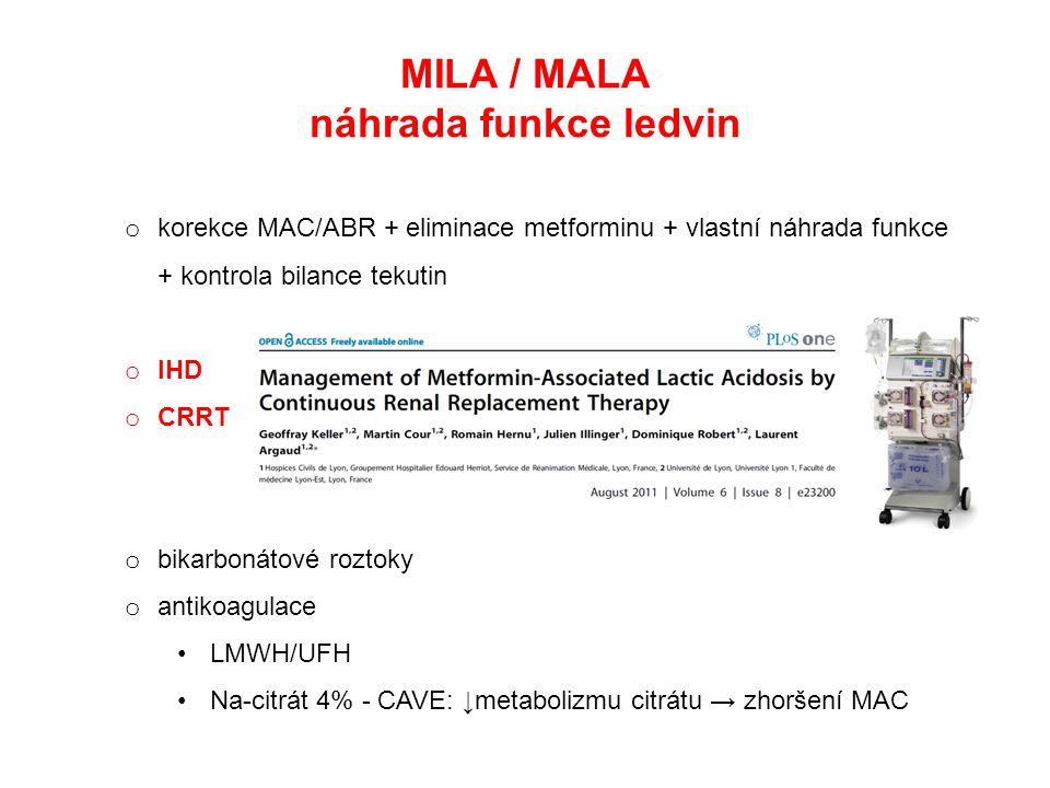 MILA / MALA náhrada funkce ledvin