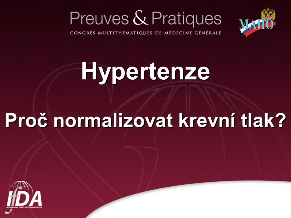 Hypertenze Proč normalizovat krevní tlak