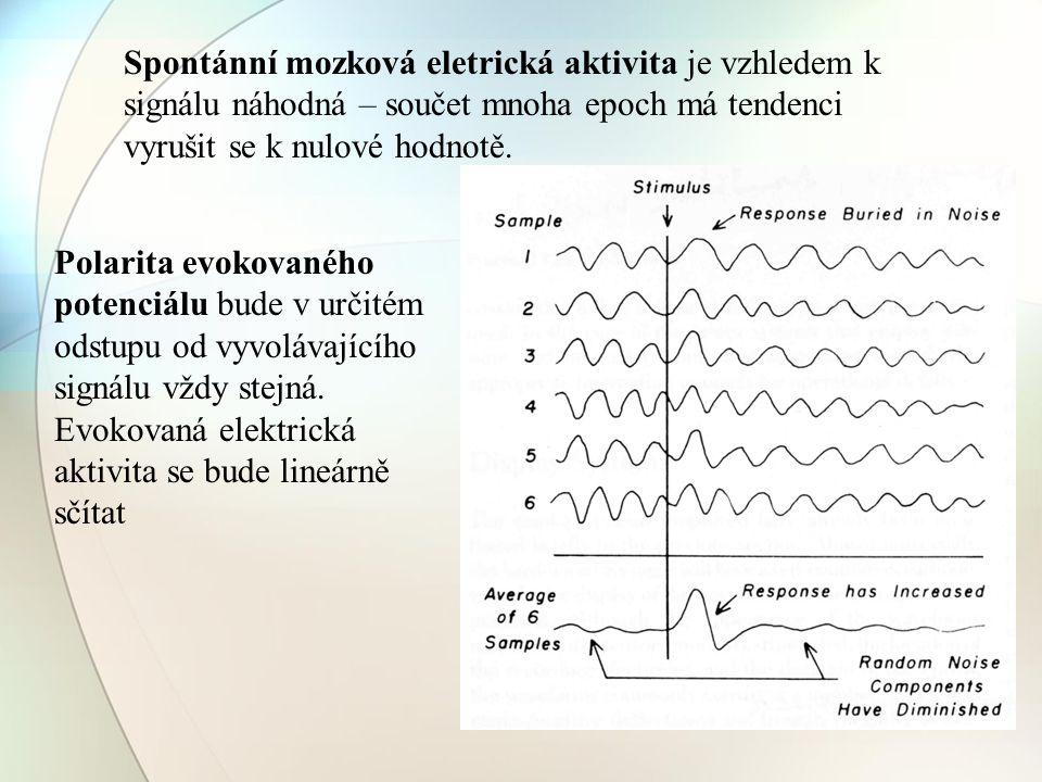 Spontánní mozková eletrická aktivita je vzhledem k signálu náhodná – součet mnoha epoch má tendenci vyrušit se k nulové hodnotě.