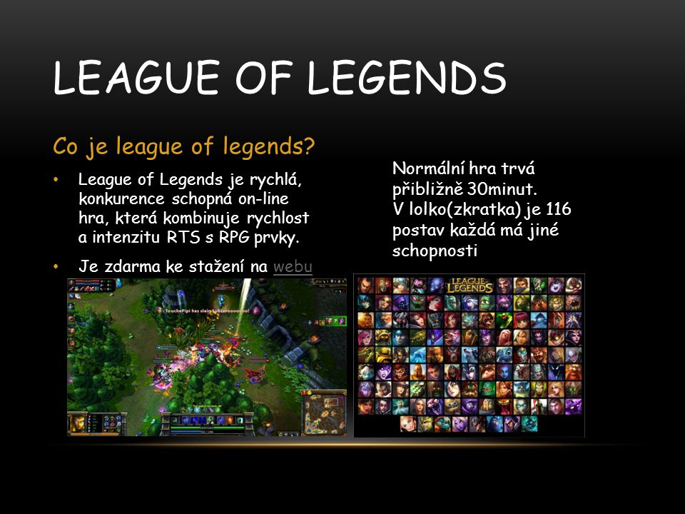 League of legends Co je league of legends
