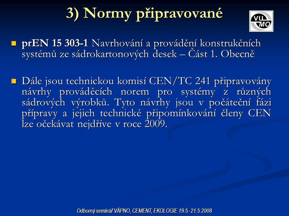 Odborný seminář VÁPNO, CEMENT, EKOLOGIE 19.5.-21.5.2008