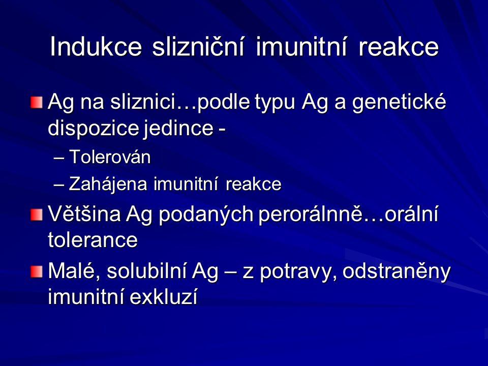 Indukce slizniční imunitní reakce