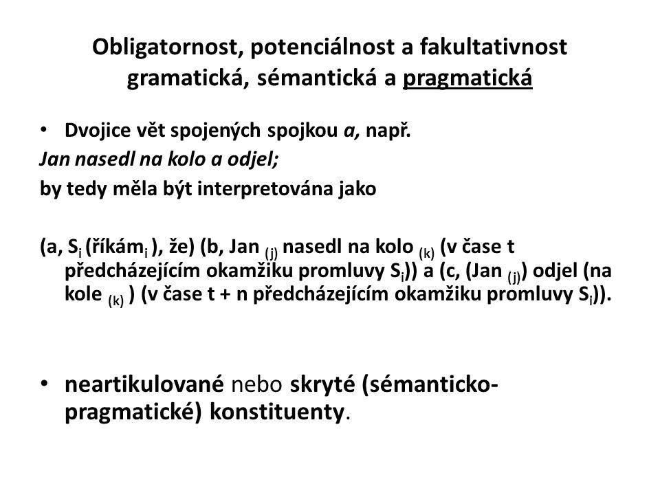 neartikulované nebo skryté (sémanticko-pragmatické) konstituenty.