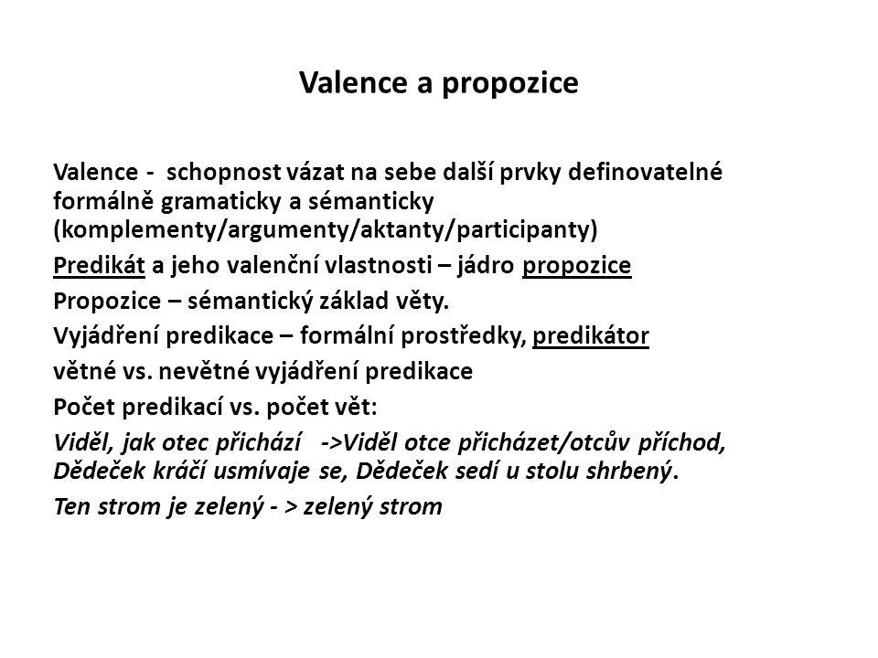 Valence a propozice