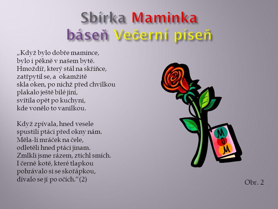 Sbírka Maminka báseň Večerní píseň