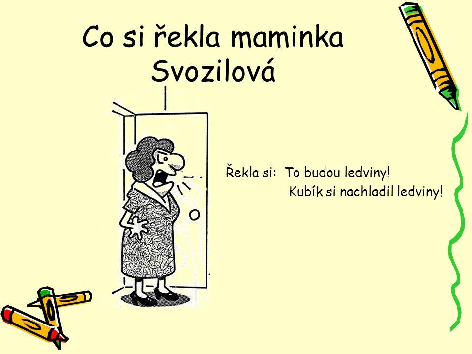 Co si řekla maminka Svozilová