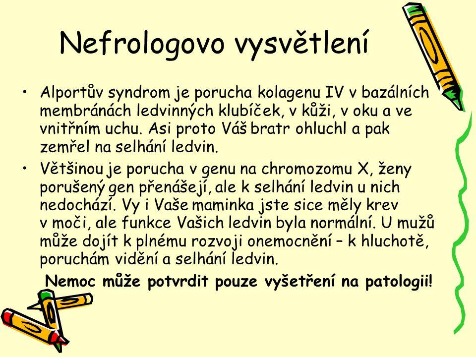 Nefrologovo vysvětlení
