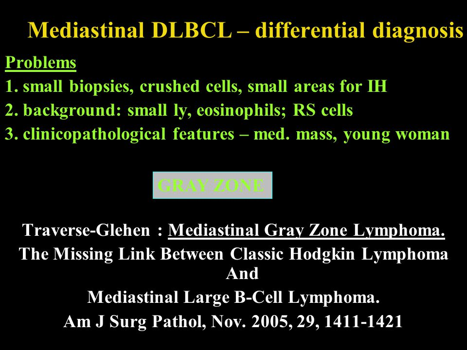 Mediastinal DLBCL – differential diagnosis