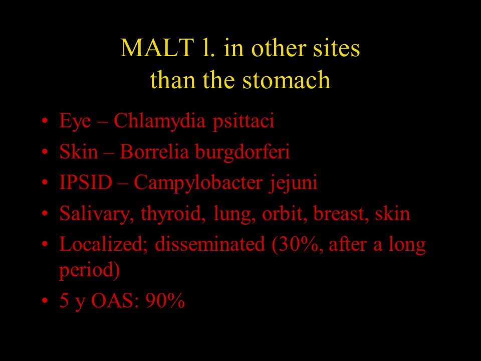 MALT l. in other sites than the stomach