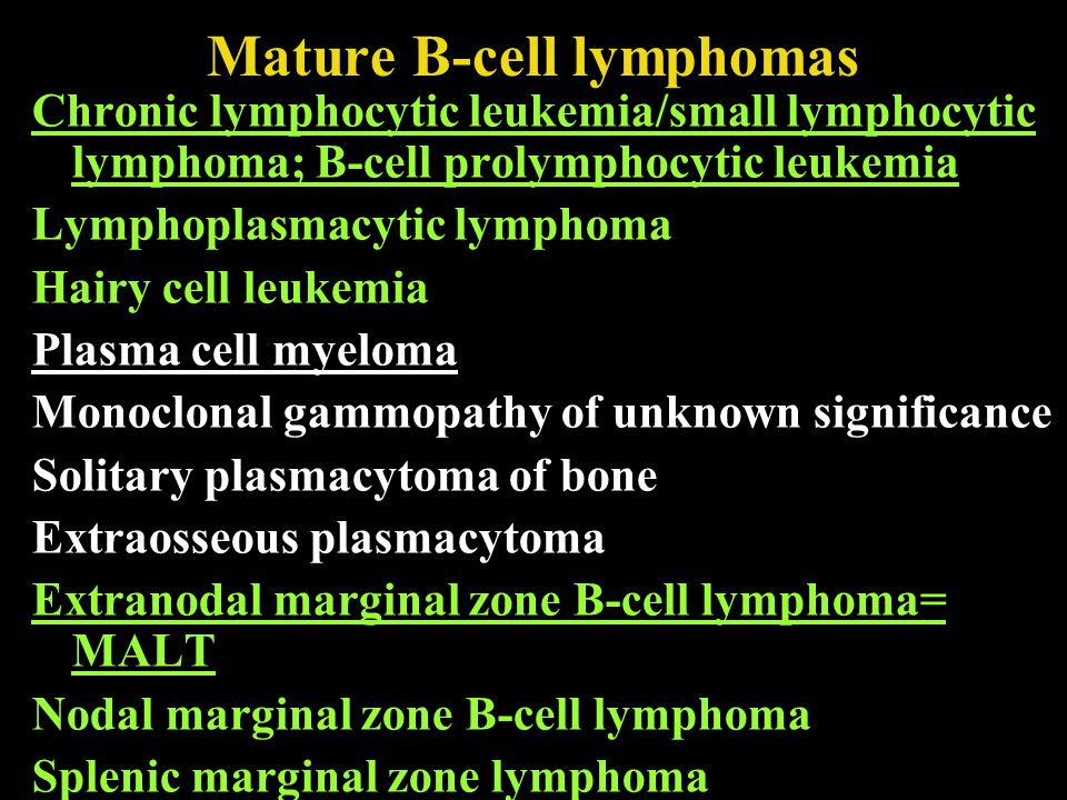 Mature B-cell lymphomas