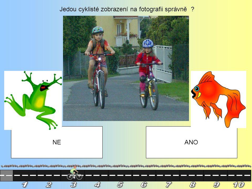 1 2 3 4 5 6 7 8 9 10 Jedou cyklisté zobrazení na fotografii správně
