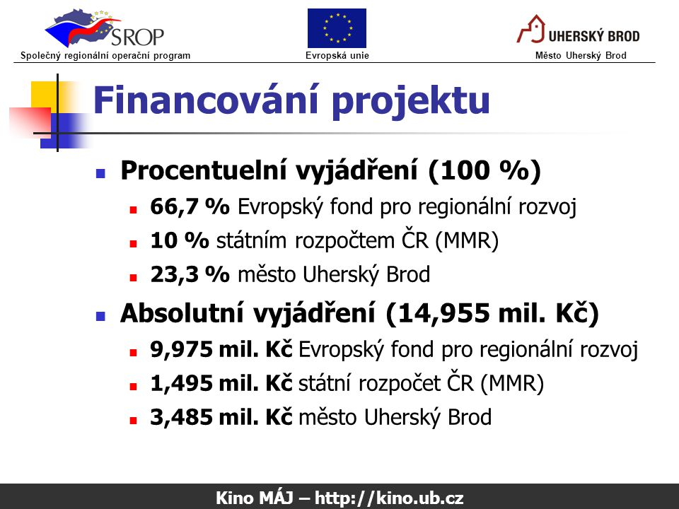 Kino MÁJ – http://kino.ub.cz