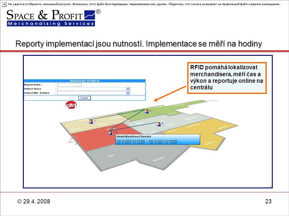 Reporty implementací jsou nutností. Implementace se měří na hodiny