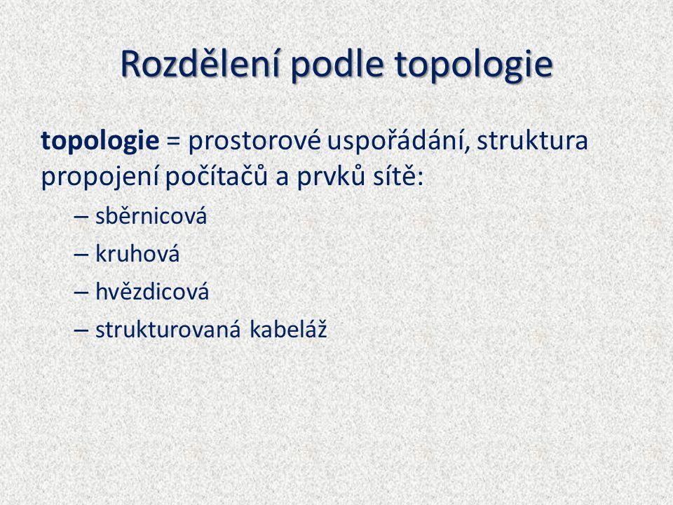Rozdělení podle topologie