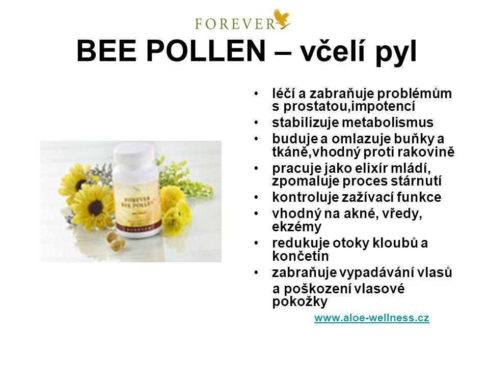 BEE POLLEN – včelí pyl léčí a zabraňuje problémům s prostatou,impotencí. stabilizuje metabolismus.