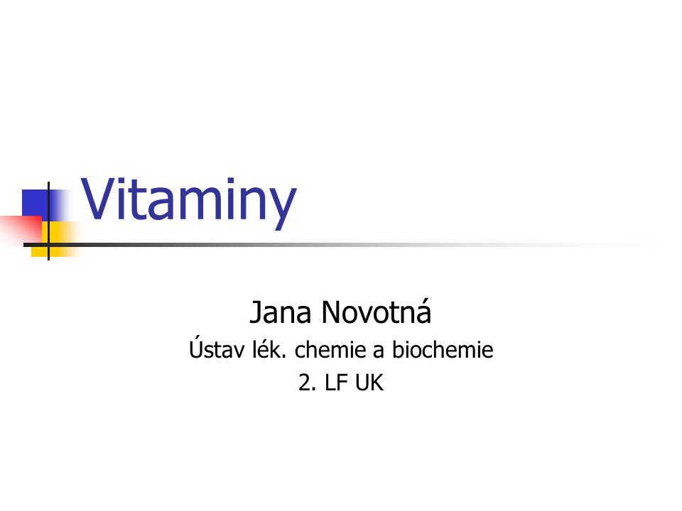 Jana Novotná Ústav lék. chemie a biochemie 2. LF UK