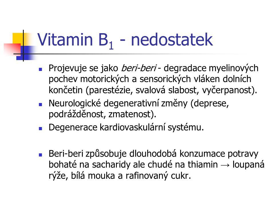 Vitamin B1 - nedostatek