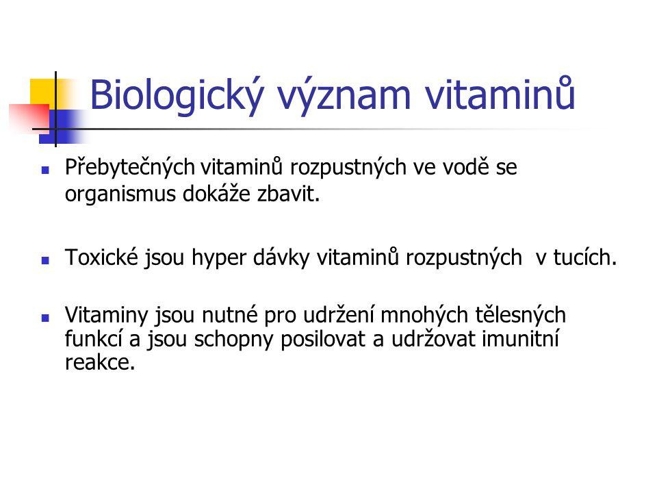 Biologický význam vitaminů