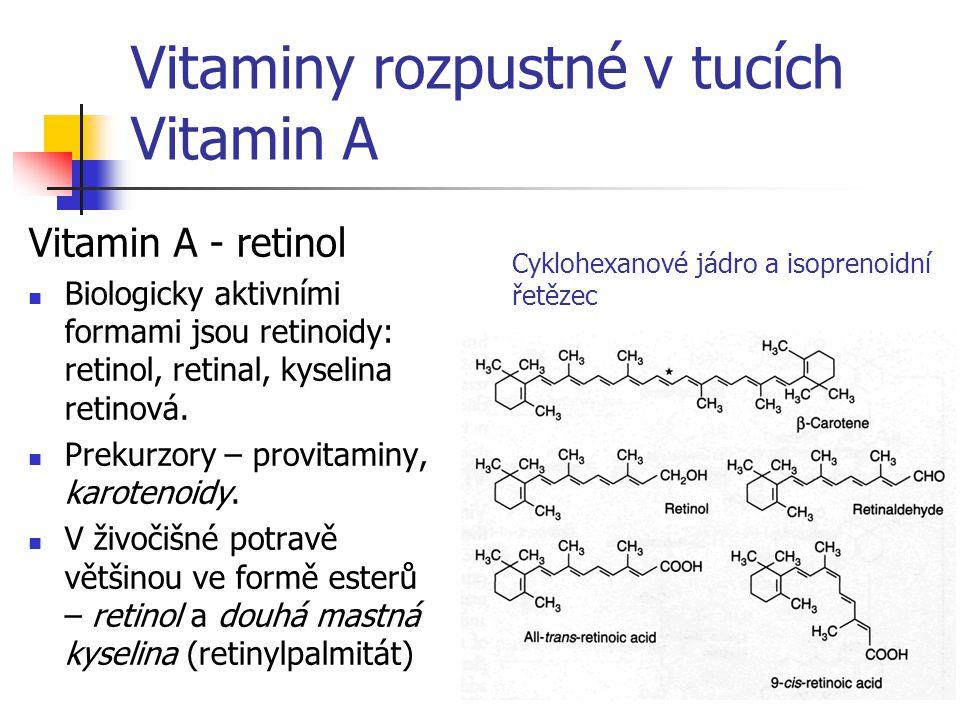 Vitaminy rozpustné v tucích Vitamin A