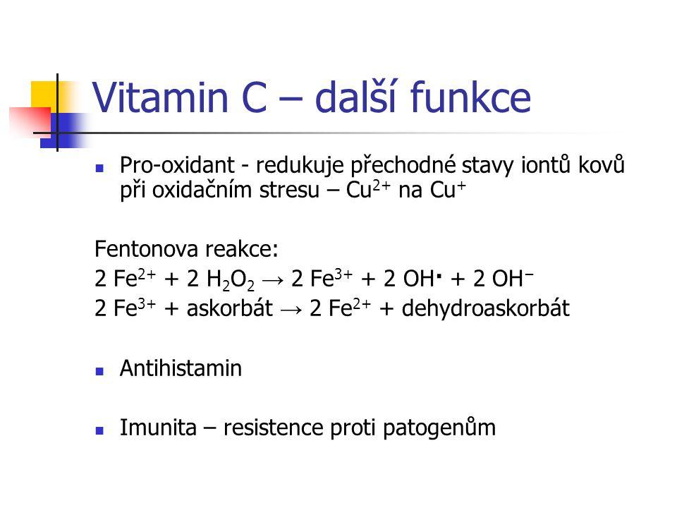 Vitamin C – další funkce