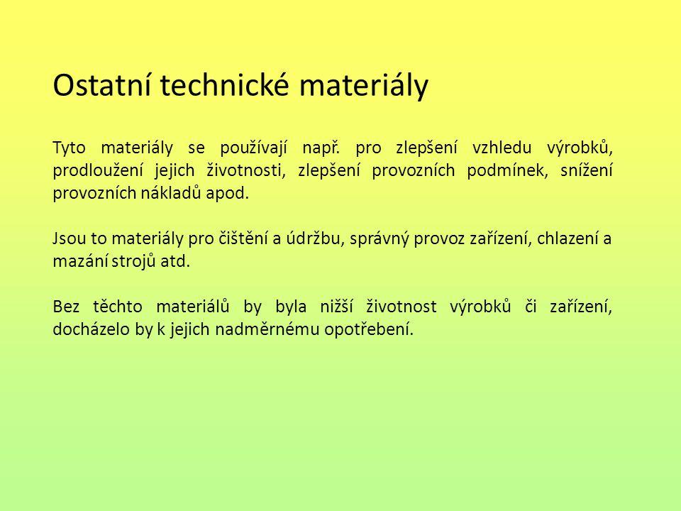Ostatní technické materiály