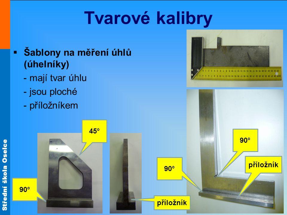 Tvarové kalibry Šablony na měření úhlů (úhelníky) - mají tvar úhlu