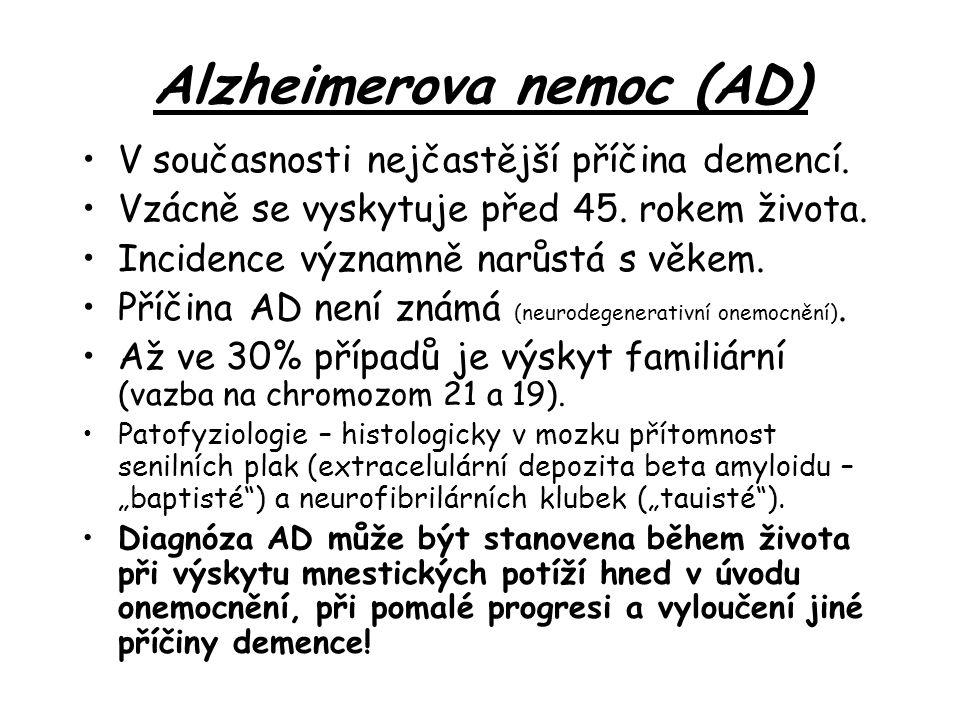 Alzheimerova nemoc (AD)