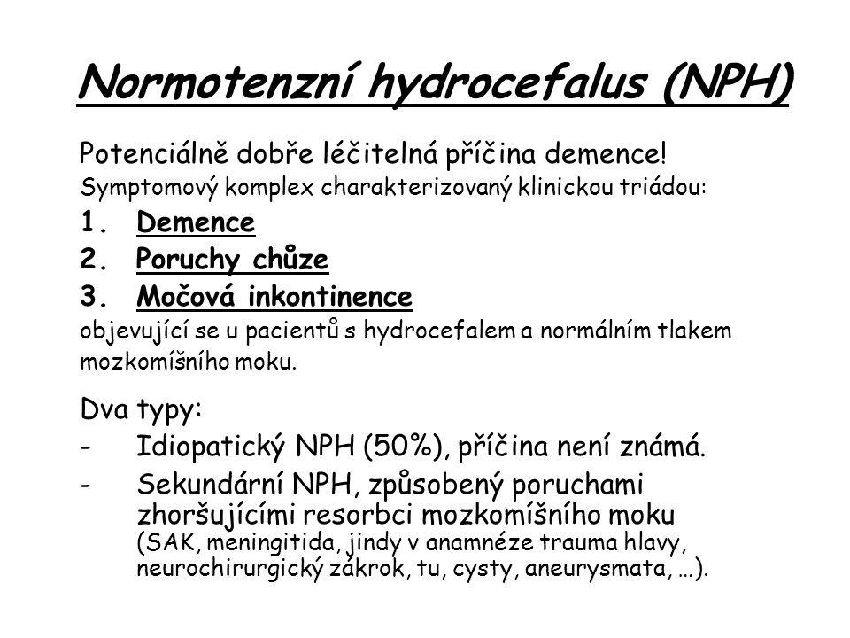 Normotenzní hydrocefalus (NPH)