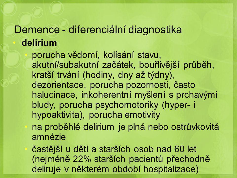 Demence - diferenciální diagnostika