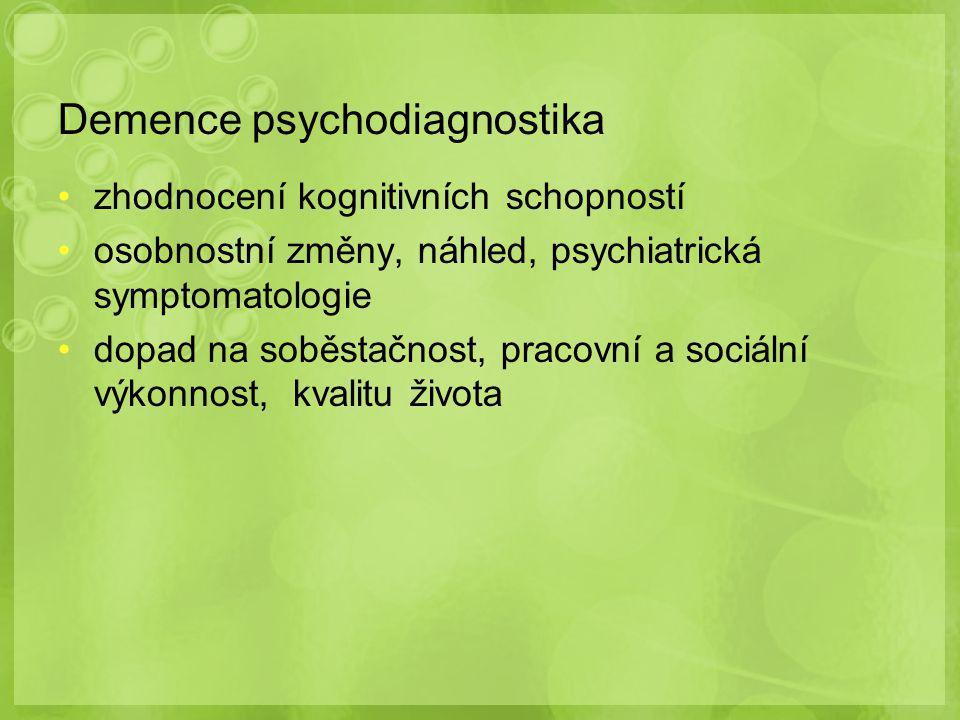 Demence psychodiagnostika
