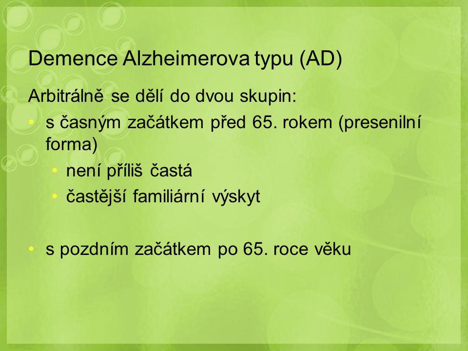 Demence Alzheimerova typu (AD)