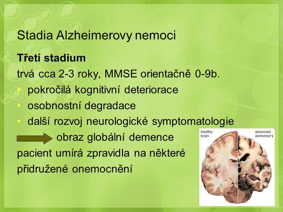 Stadia Alzheimerovy nemoci