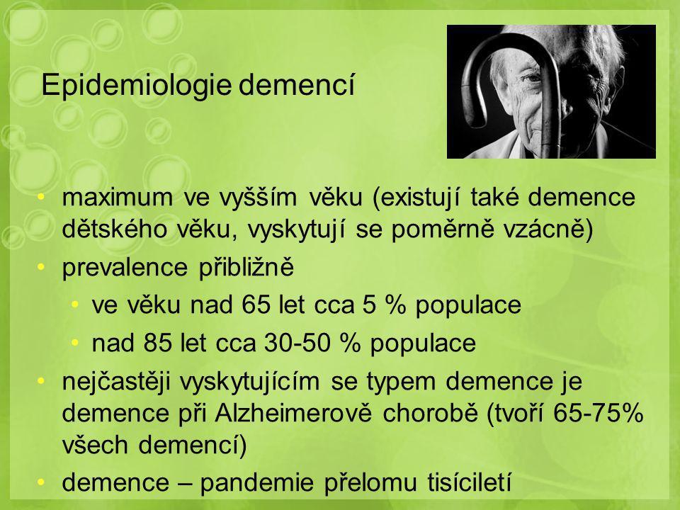 Epidemiologie demencí