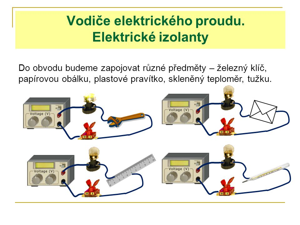 Vodiče elektrického proudu.