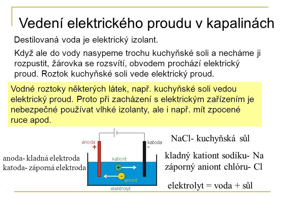 Vedení elektrického proudu v kapalinách