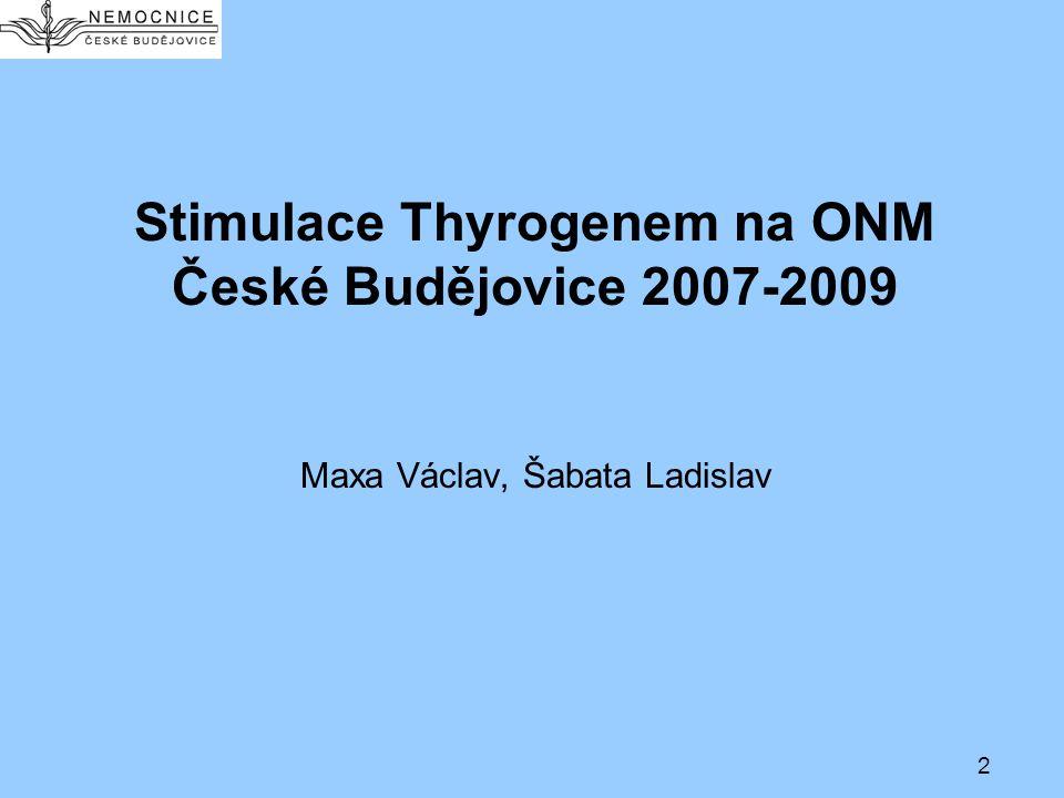 Stimulace Thyrogenem na ONM České Budějovice 2007-2009