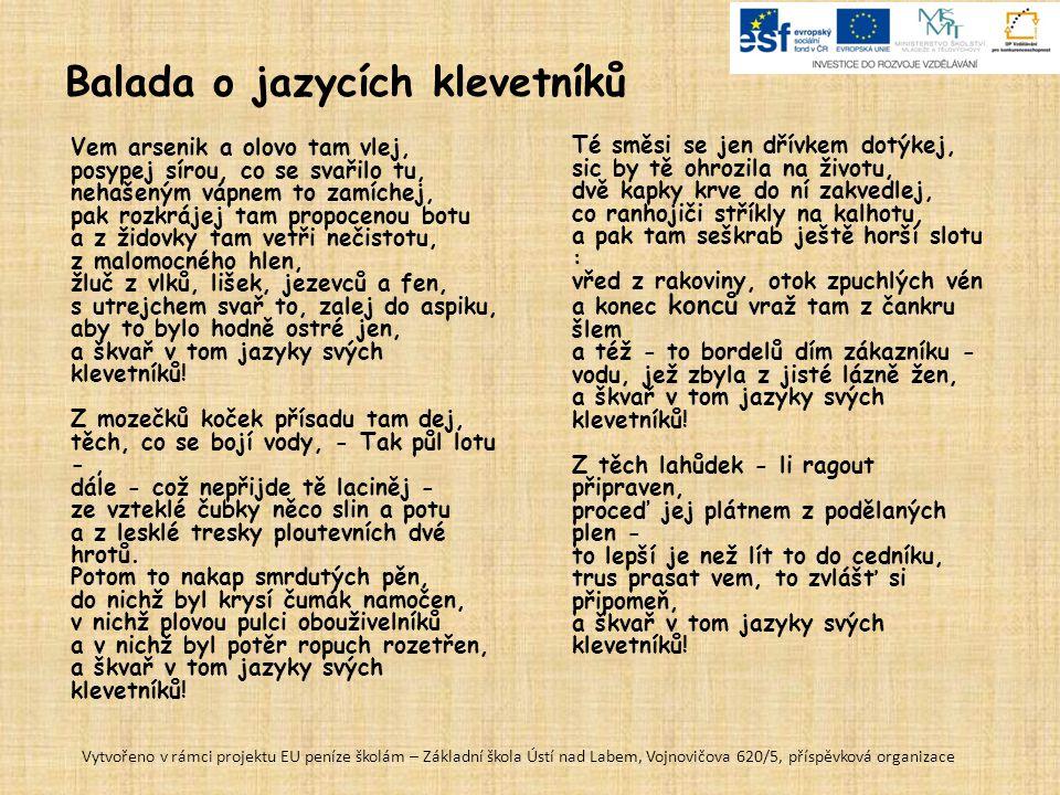 Balada o jazycích klevetníků