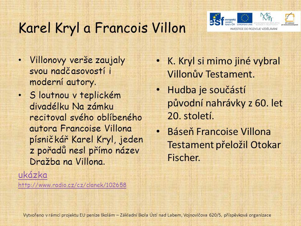 Karel Kryl a Francois Villon
