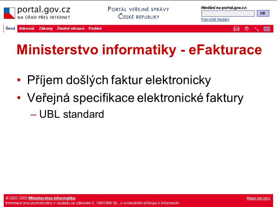 Ministerstvo informatiky - eFakturace