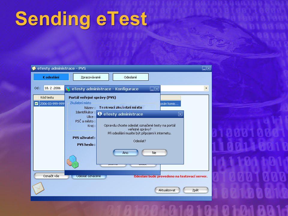 Sending eTest