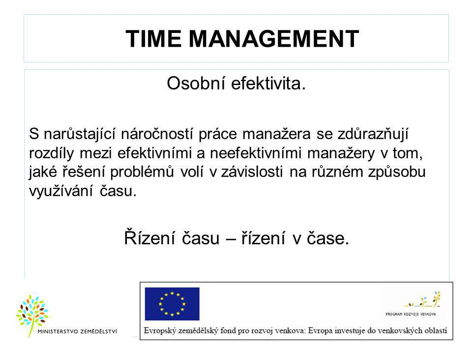 Řízení času – řízení v čase.