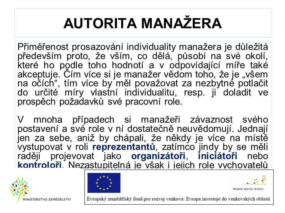 AUTORITA MANAŽERA