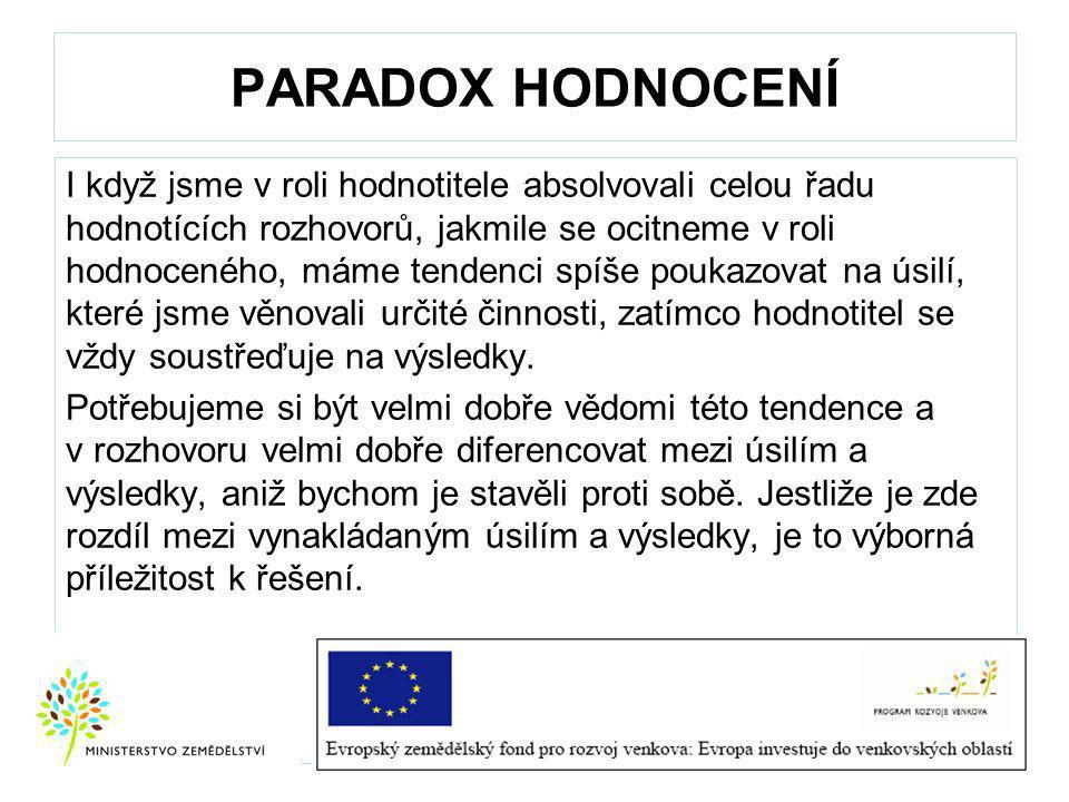PARADOX HODNOCENÍ
