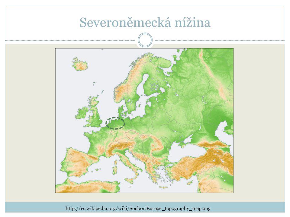 Severoněmecká nížina http://cs.wikipedia.org/wiki/Soubor:Europe_topography_map.png