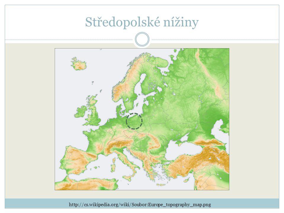 Středopolské nížiny http://cs.wikipedia.org/wiki/Soubor:Europe_topography_map.png