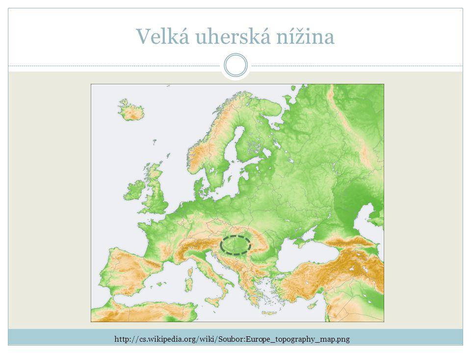 Velká uherská nížina http://cs.wikipedia.org/wiki/Soubor:Europe_topography_map.png